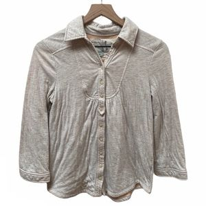 Kimchi Blue Collared Button Down Long Sleeve Top M